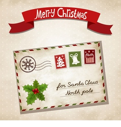 Christmas letter vector image