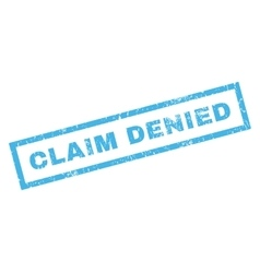 Claim denied rubber stamp vector
