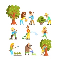 Collection of Fruit Farm vector image