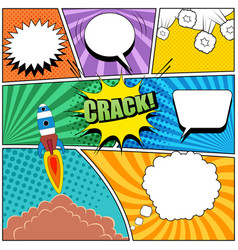 comic book page bright background vector image