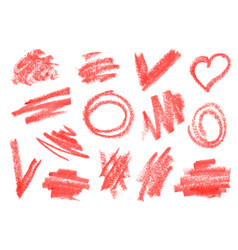 crayon dry brush lipstick rough strokes doodles vector image vector image
