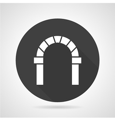 Curved archway black round icon vector