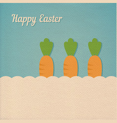 easter carrot card vector image vector image