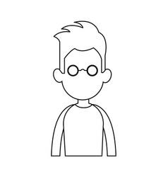 faceless man cartoon icon image vector image