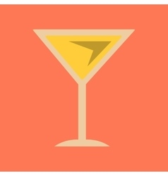 flat icon on background martini glass vector image vector image