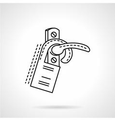 Flat line door label icon vector