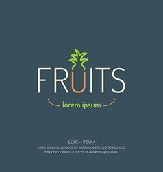 Fruit poster vector