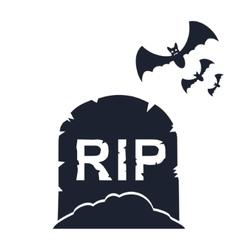 Gravestone with bats vector