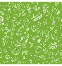Green vegetables detox Seamless pattern design vector image