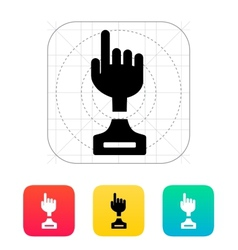 Hand cup icon on white background vector image