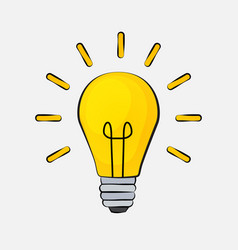 Idea bulb flat design icon vector