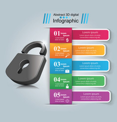 Infographic lock icon vector