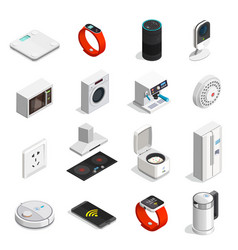 Internet of things isometric icons vector