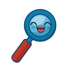 Kawaii lupe icon vector