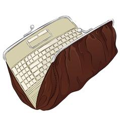 notebook purse vector image