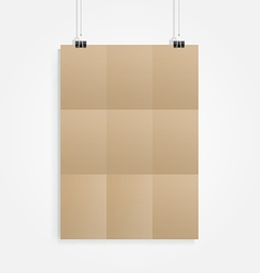 old brown paper with clip vector image