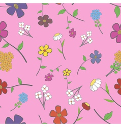 Rose Floral Seamless vector image vector image