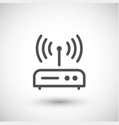 router line icon vector image