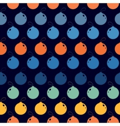 Seamless abstract pattern with color Christmas vector image