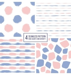 Set of seamless pattern stripes polka dots vector