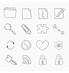 sketch icon set vector image vector image
