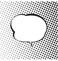 speech bubble on halftone background vector image vector image