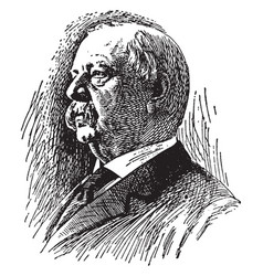 stephen grover cleveland vintage vector image vector image