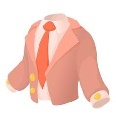 Suit icon cartoon style vector