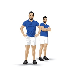 training blue pair vector image vector image