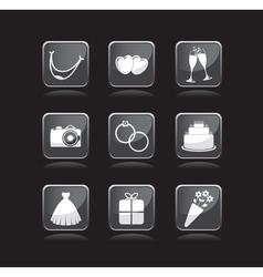 wedding icons vector image vector image