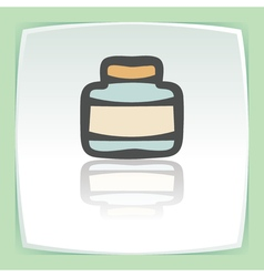 Outline empty glass pot icon modern infographic vector