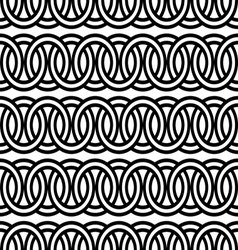 Seamless circle chain pattern background vector