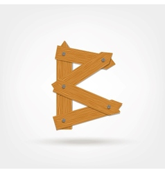 Wooden boards letter b vector