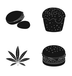 Holland food and other web icon in black style vector