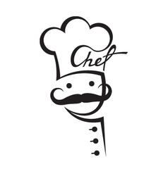 mustachioed chef vector image