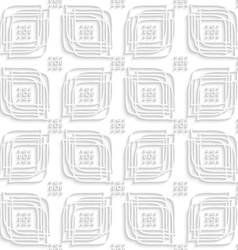 White linear leaves and rounded rectangle groups vector
