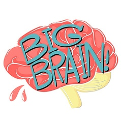 Big brain with text vector