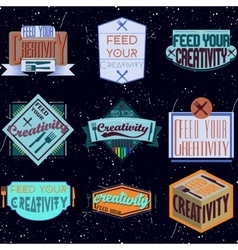 Motivational typography design retro and vintage vector