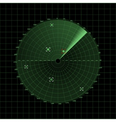 Radar screen on grid vector