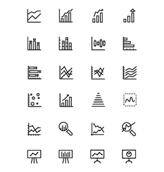Data analytics line icons 2 vector