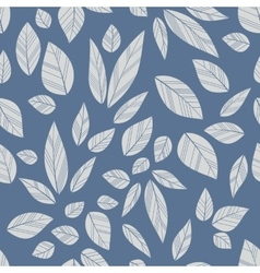 blue seamless leaves vector image