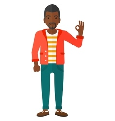 Man gesturing ok sign vector