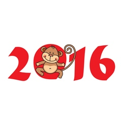 2016 year of monkey vector