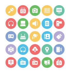 Communication icons a vector
