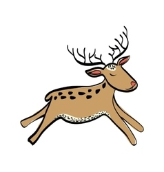 Deer cartoon icon cute animal design vector