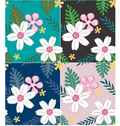 seamless flower pattern design vector image