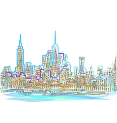 abstract new york city vector image vector image