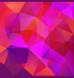 abstract triangular mosaic red background vector image vector image