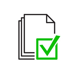 approve file icon vector image vector image