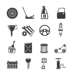 Auto Service Icons Black vector image vector image